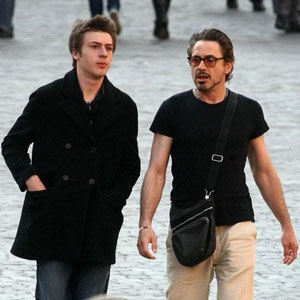 Robert Downey Jr. and his son Indio Falconer Downey from Facebook ...