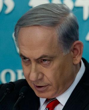 Israeli Prime Minister Benjamin Netanyahu gives a press conference at his Jerusalem offices. (Jim Hollander, AFP)