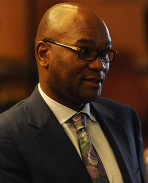 Former police minister Nathi Mthethwa at the Farlam Commission of Inquiry in Pretoria. (Werner Beukes, Sapa)