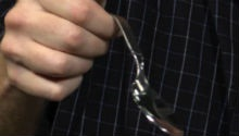 Watch this guy bend a spoon with his mind!