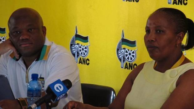 ANC provincial secretary Sihle Zikalala and PEC member Hlengiwe Mavimbela addressing the media on the preparations for the provincial conference.