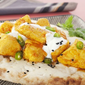 recipes, chicken, naan