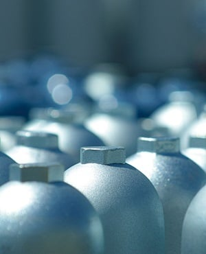 Gas cylinders. The Linde Group is the parent company Afrox. (The Linde Group, Supplied)