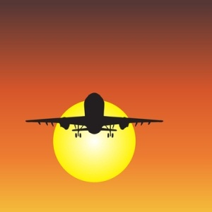 Aircraft silhouette from Shutterstock