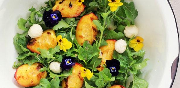 recipes, salad, grill, nectarine