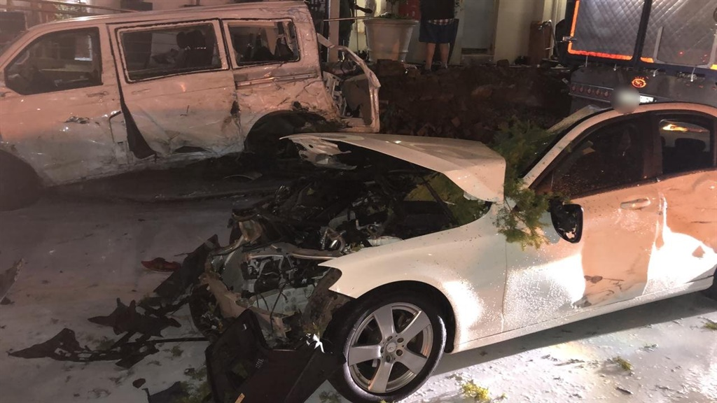 A truck ploughed into around 20 cars on Thursday.