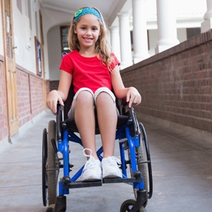 Disabled pupil from Shutterstock