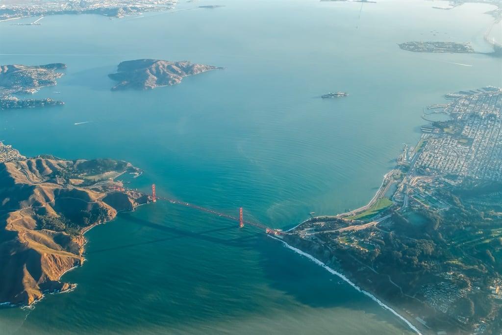 San Francisco, CA, USA - December 13, 2018: Aerial