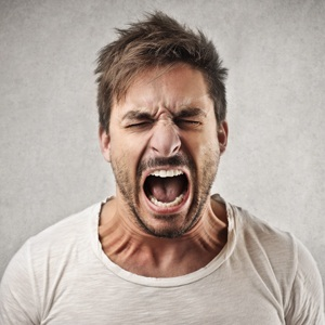 Young angry man from Shutterstock
