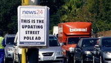 News24's updating street pole