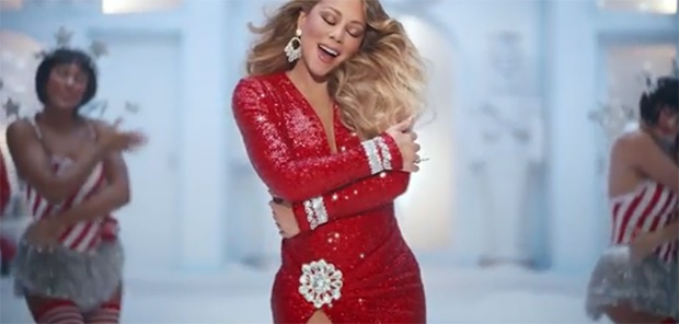Mariah Carey in the new 'Walkers' Christmas ad. (S