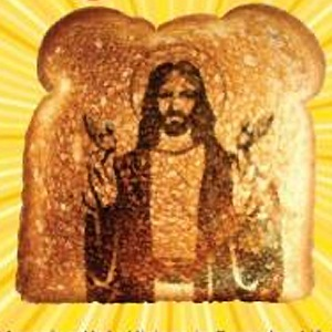 Jesus in toast, from Look! It's Jesus!: Amazing Holy Visions in Everyday Life, Amazon.com