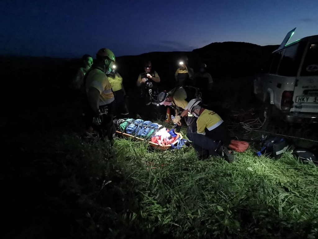 A paraglider has been rescued in Bambi, Mpumalanga, after rolling down a rocky hill.