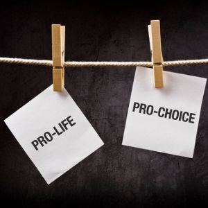 Pro-life vs. pro-choice from Shutterstock