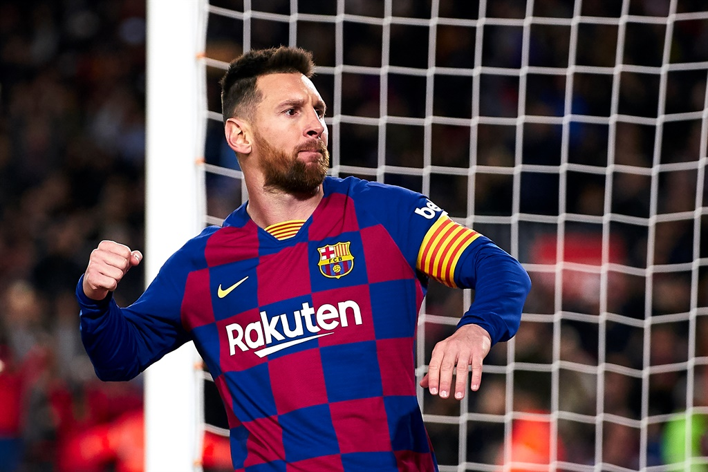 Lionel Messi struck from the penalty spot to give Barça the lead after he was felled at the end of a weaving run.