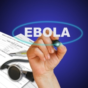 Writing word Ebola from Shutterstock