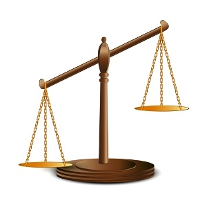 Scales of justice from Shutterstock