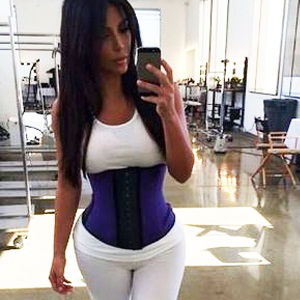 e4219e6b936 What is Kim Kardashian doing to her waist !