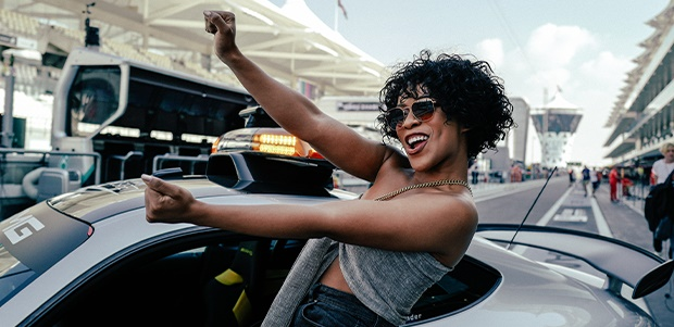 Nomzamo Mbatha at The Abu Dhabi Grand Prix (Photo: Creations of LA)