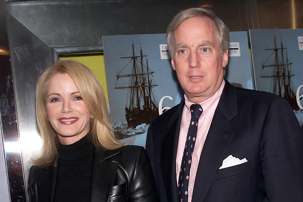 Robert Trump and his first wife Blaine attends the screening of The Indurance: Shackletons Legendary Antarctic Expedition at the Paris Theater in New York City in 2001.