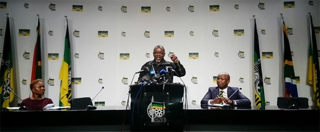 ANC secretary general Gwede Mantashe during the press conference at Luthuli House. (Photo: Cornel van Heerden )