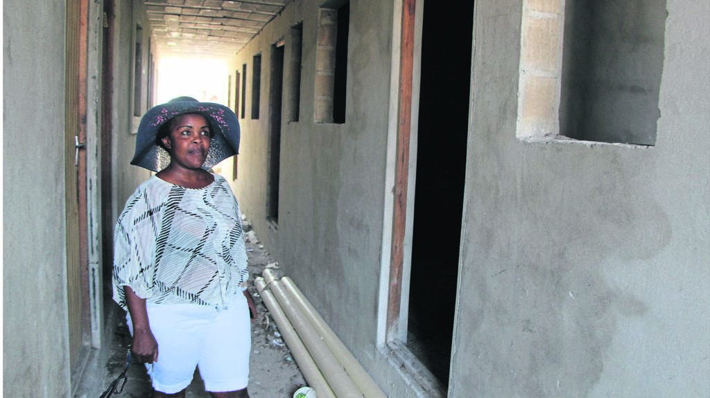 Nosipho Mavuso says her flats were not finished by the person she hired to build it. PHOTO: SIYABONGA KALIPA