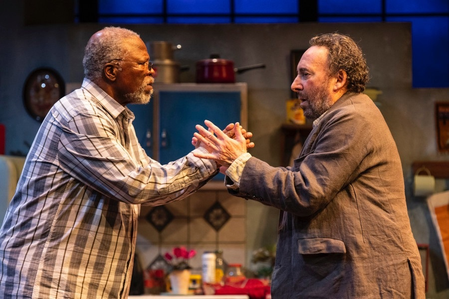Sir Anthony Sher and John Kani in a scene from 'Kunene and the King'.