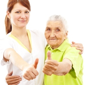 Doctor with Alzheimer's patient from Shutterstock