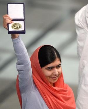 Nobel Peace Prize laureate Malala Yousafzai. (Odd Andersen, AFP)