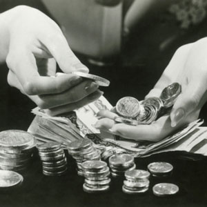 money, coins, counting