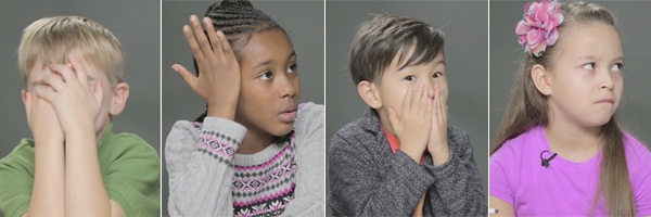 Watch parents awkwardly talk to their kids about s