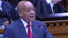 Newspapers examine Zuma's 'kind' State of the Nation reply