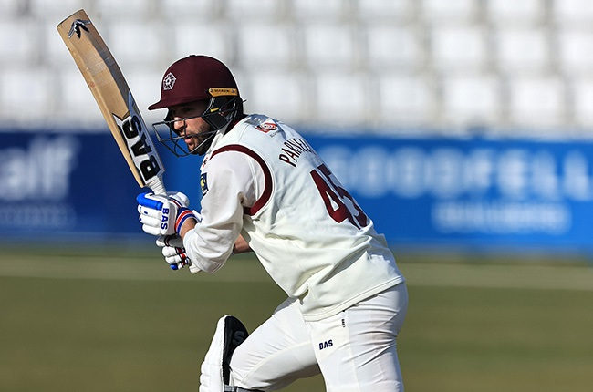 Wayne Parnell batting for Northamptonshire. (Photo by David Rogers/Getty Images)