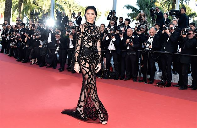 Kendall Jenner Dons naked Dress On Cannes Red Carpet