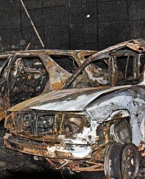 Wreckage at the scene of a car bomb attack in Mogadishu. (AP Photo/Farah Abdi Warsameh)