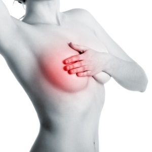 Breast severe pain under left