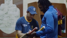 Word Cup Diaries: Changeroom antics after Windies win
