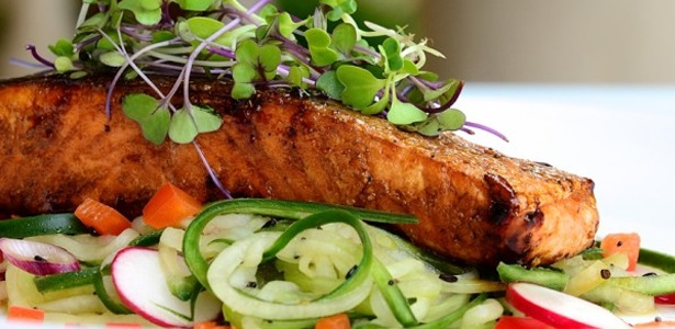 recipes, fish, seafood, salmon, salad