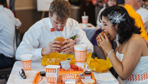Say Cheese: Couple Wed at Their Favourite Burger R