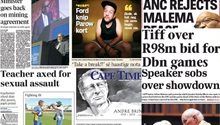 Newspapers celebrate 25 years since Nelson Mandela's release