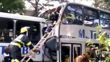 WATCH: Metro bus crash on Jan Smuts Avenue, Joburg