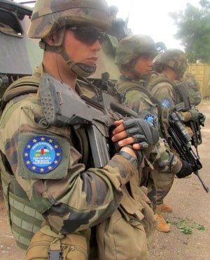Soldiers of the European Union Force RCA patrol in Bangui, the capital of the Central African Republic. (STR, AFP)
