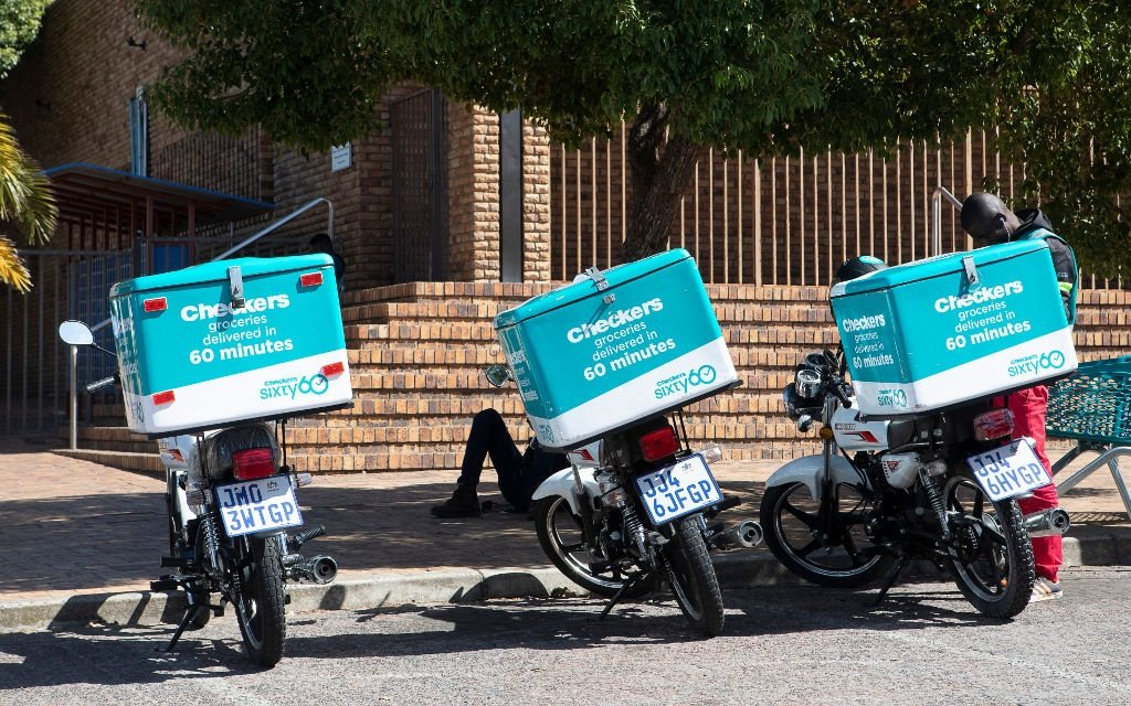 Checkers delivery motorbikes on March 28, 2020 in Cape Town.