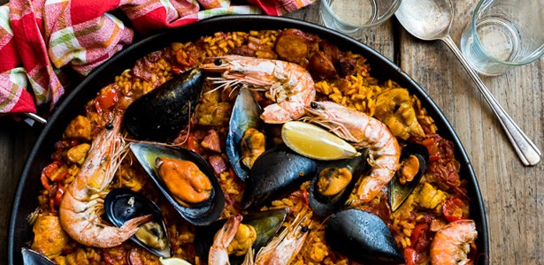 recipes, rice, seafood, Spanish
