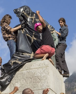 UCT Rhodes statue. (News24 User)