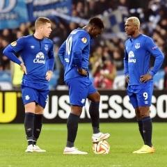 Ross Barkley, Romelu Lukaku and Arouna Koné (AFP)