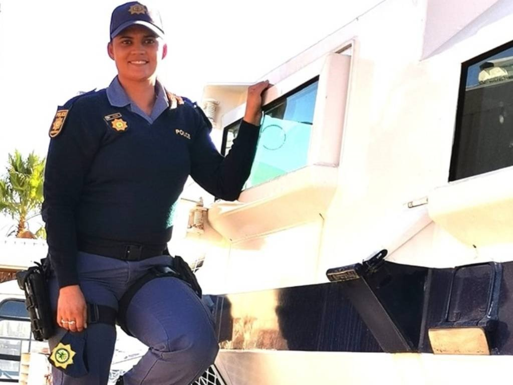 Constable Amy Fielding is the first woman in the Northern Cape to qualify to drive a SAPS Casper.