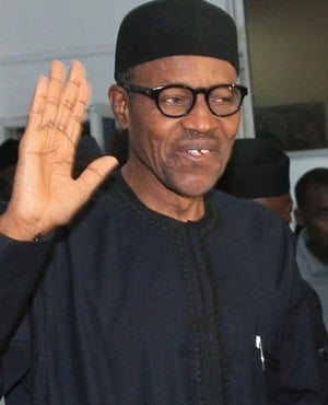 Nigerian president-elect Muhammadu Buhari waves to the public. (AFP)