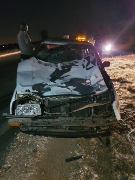 Bafana Ndhlovu's wrecked car
