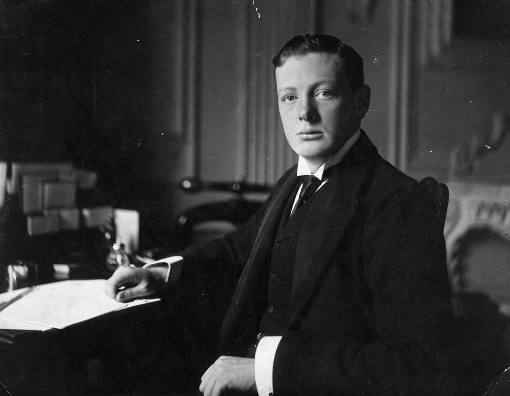 British statesman and writer Winston Churchill (1874 - 1965) aged 26. Original Artist: By Elliott & Fry. (Photo by Hulton Archive/Getty Images)